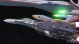 Alto's Valkyrie escorting Sherly's passenger liner