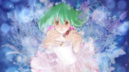 Fanciful artistic image of Ranka in flowery dress
