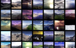 Mosaic of varied planetary environments