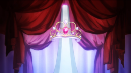 Revue Starlight tiara with pink gem